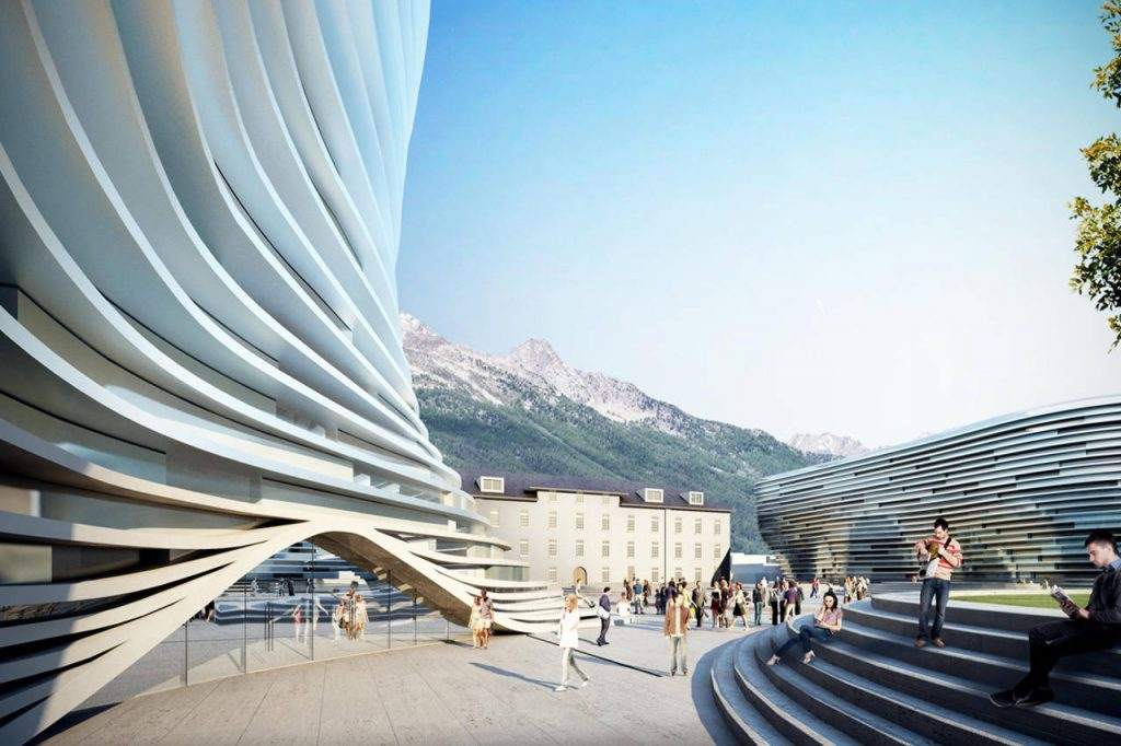 Polo Universitario della Valle D'Aosta render by Engram Studio